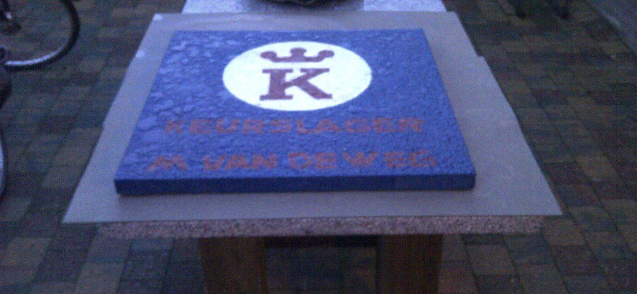 Speciaal logo van keurslager in terrasso