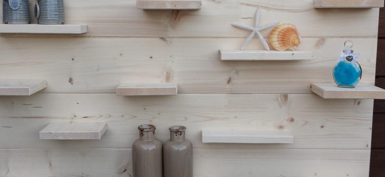 Muurplank van steigerhout